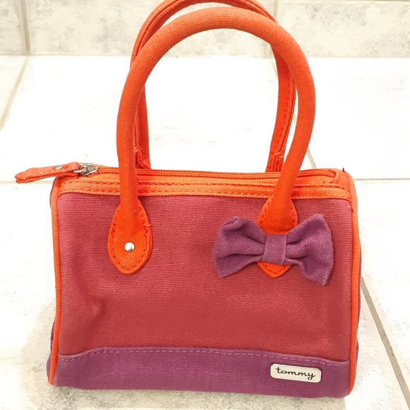 Tommy Hifiger purse red & purple small purse